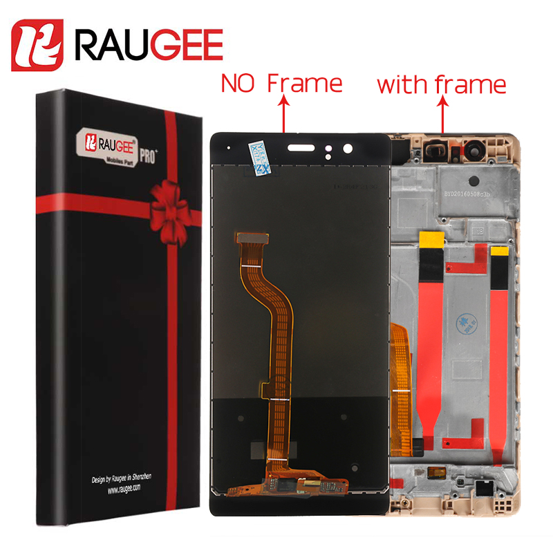 For Huawei P9 LCD Screen 100% Tested High Quality LCD Display+Touch Screen With Frame Replacement for Huawei P9 Smartphone