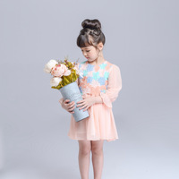 High Quality Fashion Style 2016 New Spring Sutumn Lovely Baby Girl Lace Dress Children Sleeveless Princess