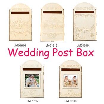 Diy 웨딩 선물 카드 상자 자물쇠와 목조 머니 박스 생일 파티 어린이를위한 아름다운 웨딩 장식 용품 베이비 샤워
