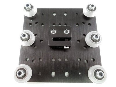 Reprap 3D Printer CNC C-Beam Gantry Plate - XLarge set v-wheel +TR8*8 anti backlash nut kit