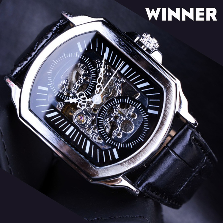 2019 Winner Top Brand Retro Classic Designer Silver Stainless Steel Case Men Watches Luxury Mechanical Automatic Watch Clock2019 Winner Top Brand Retro Classic Designer Silver Stainless Steel Case Men Watches Luxury Mechanical Automatic Watch Clock