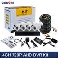 CCDCAM CCTV система 4CH 720P AHD DVR комплект безопасности 1MP AHD камера наружная с 4CH 720P AHD DVR