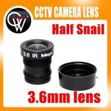 Half snail 3.6mm cctv lens mtv IR cctv camera m12 mount lens for security cctv camera