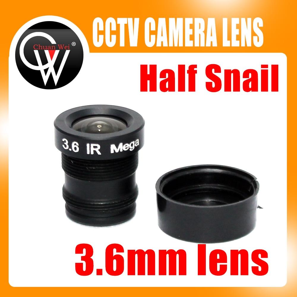Half snail 3.6mm cctv lens mtv IR cctv camera m12 mount lens for security cctv camera автомобильный телевизор mystery mtv 970 black