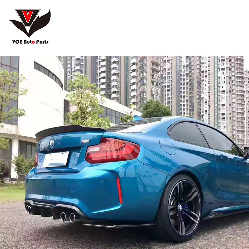 F22 F23 F87 Carbon Fiber Rear Spoiler For BMW F22 F23 2 Series F22 Coupe & F23 Convertible & F87 M2 218i 220i 228i M235i 2014+ аксессуар frap f22