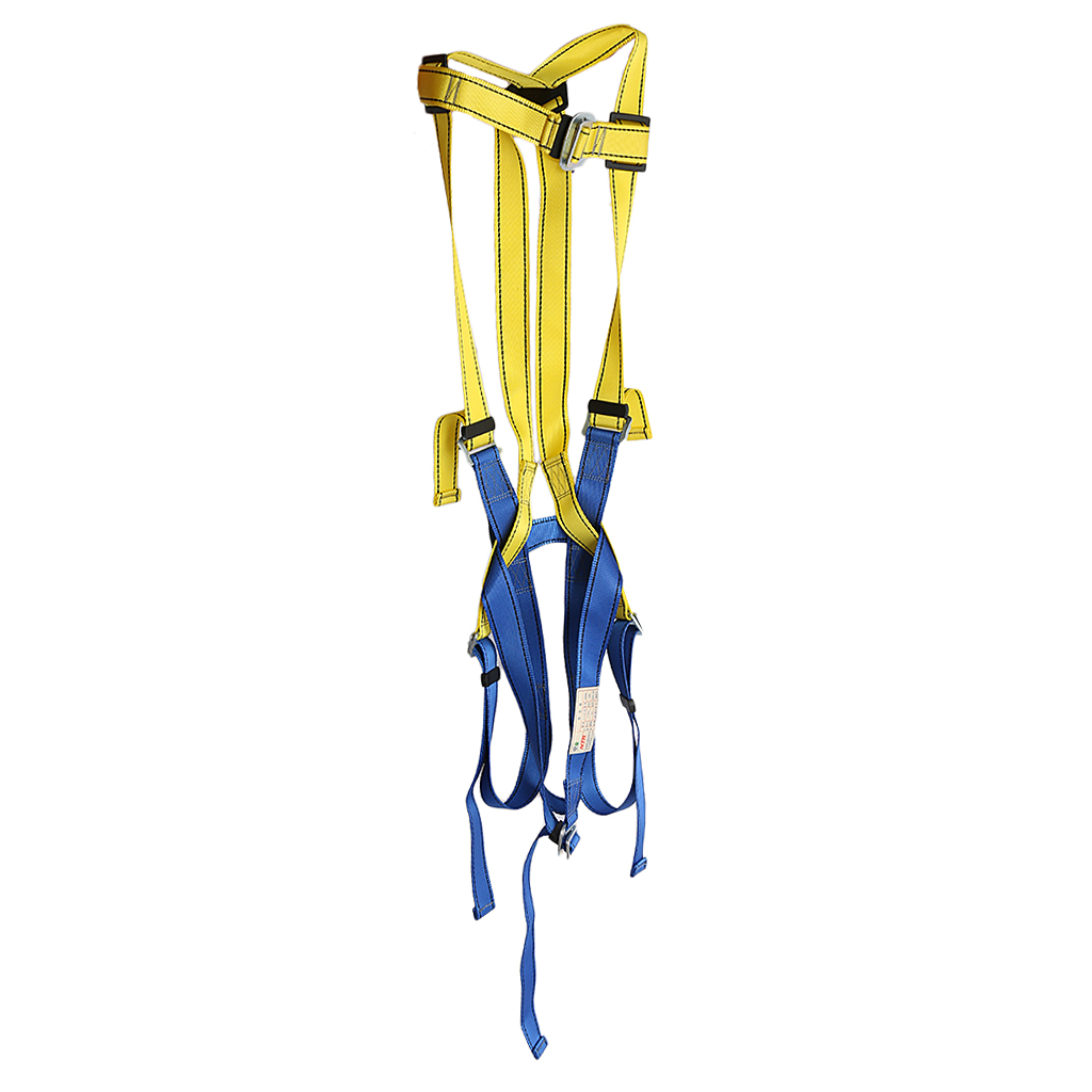 Outdoor Sports Professional Full Body Rock Caving Climbing High Rappelling Safety Harness Unisex Seat Belt Gear Protection Blue hot sale safety body harness outdoor mountaineering rock climbing harness protect waist seat belt outside multi tools