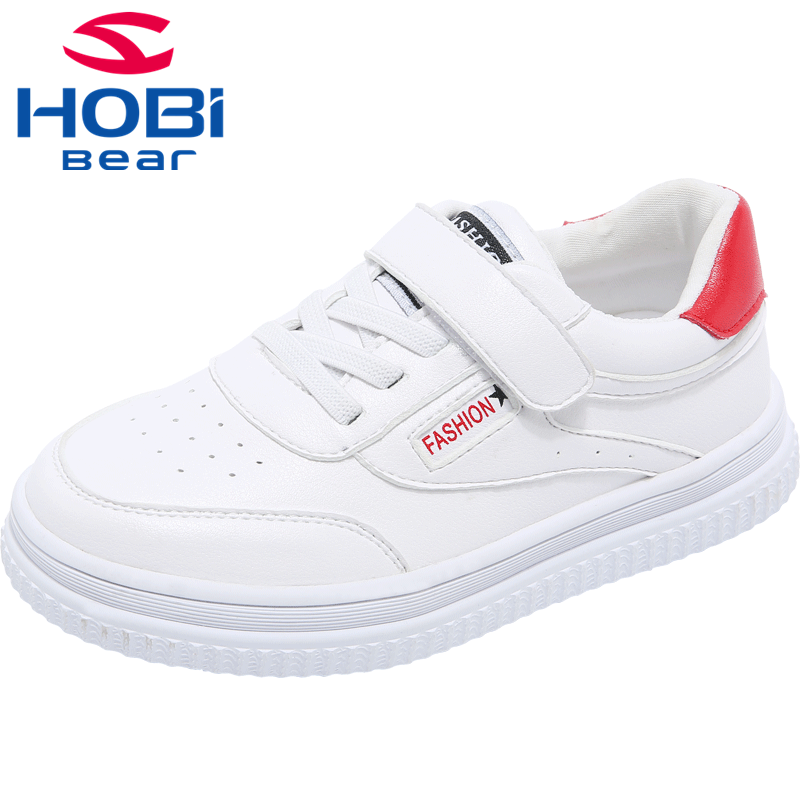 Shoes for Children Boys Casual Shoes For Girls Spring Fashion White Soft Sole Tennis Walking School Footwear HOBIBEAR GS3513