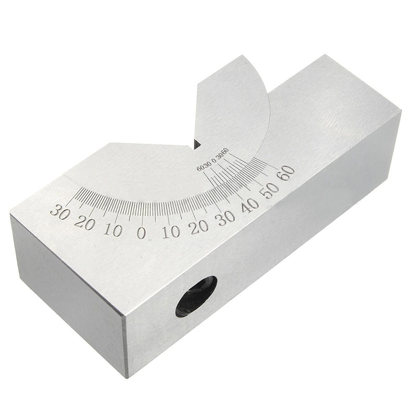 1pc 0-60 Degree Adjustable Angle V Block Precision Gauge Micro Milling Setup Angle Blocks with Wrench For Measuring Tools gauge block set 103pcs metric milling grinding setup layout machinist l99