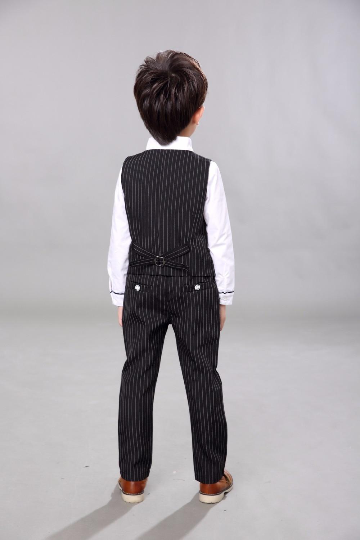 Марка Дети Мальчики школьный костюм свадебное платье на день рождения Англия нежный жилет для мальчиков рубашка брюки формальный костюм де...
