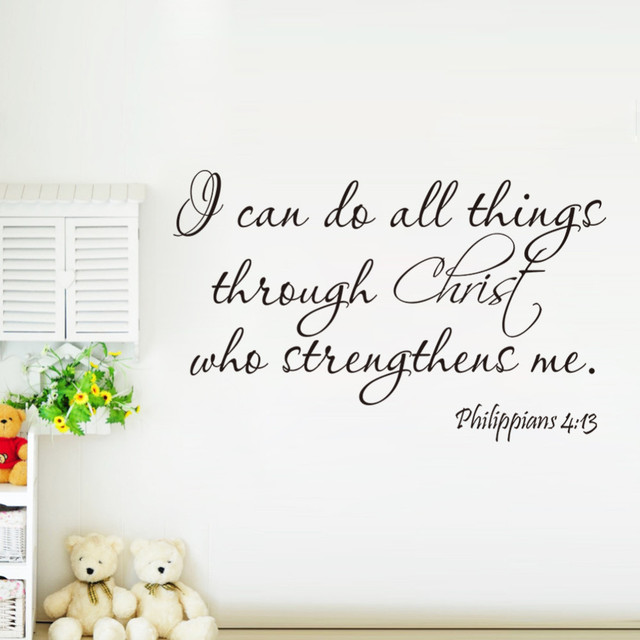 Aliexpresscom Buy Christ Strengthens Me Bible Quotes Wall - Removable vinyl wall decals for home decor