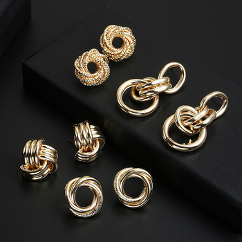 ZA Metal Maxi Statement Vintage Clip on Earrings 1