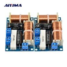 AIYIMA 2 قطعة المتكلم 2 طريقة الصوت تردد مقسم ثلاثة أضعاف باس 2 وحدة كروس مرشحات 80 واط رف الكتب مكبر هاي فاي مقسم