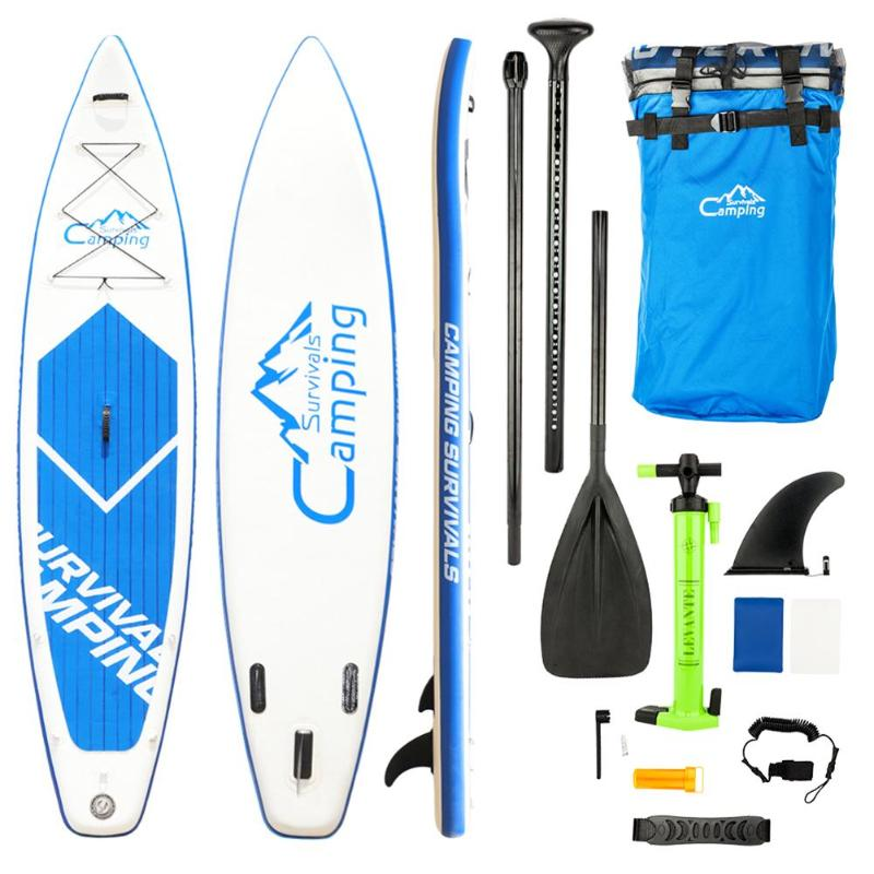 KS-SP1009 12 Adult Inflatable SUP Stand Up Paddle Board White & Blue Surf Control, Surf Control, Non-Slip Deck Carry BagKS-SP1009 12 Adult Inflatable SUP Stand Up Paddle Board White & Blue Surf Control, Surf Control, Non-Slip Deck Carry Bag