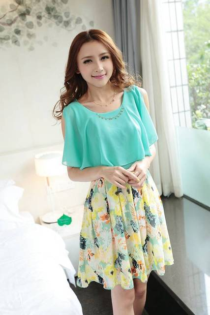 Popular Design Of Women Chiffon Dress Ladies Simple Fashion Dress