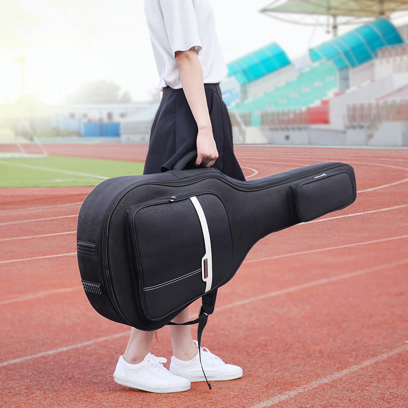 Fashion 40 Inch / 41 Inch Guitar Bag Carry Case Backpack Oxford Acoustic Folk Guitar Gig Bag Cover with Double Shoulder StrapsFashion 40 Inch / 41 Inch Guitar Bag Carry Case Backpack Oxford Acoustic Folk Guitar Gig Bag Cover with Double Shoulder Straps