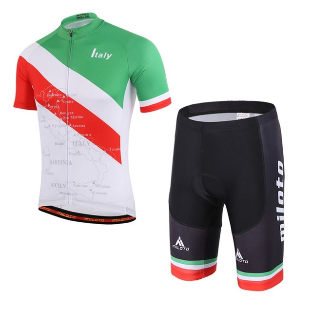 fb5d032b3 Boys Cycling Set Italy Team Sports Maillot Ciclismo KId Cycling Jersey    Bike Bib Shorts Kit Summer Children s Gift