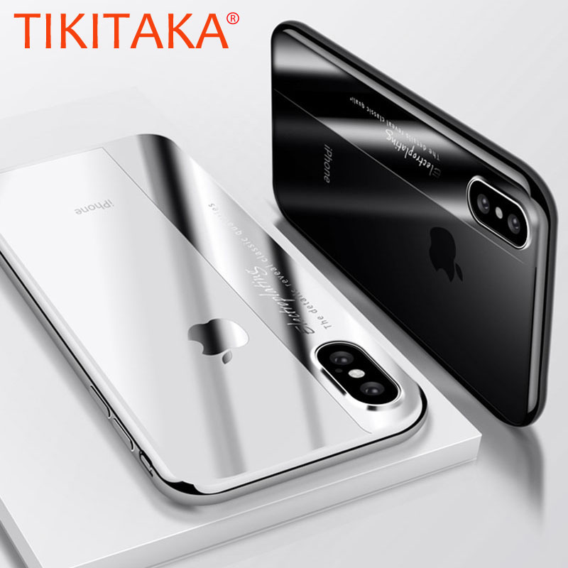Luxury Plating Soft TPU Phone Cases For Samsung Galaxy S9 S8 Plus Note 8 Full Cover Case For iPhone X 8 7 6 Plus Protector Shell