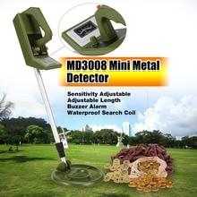 MD3008 Professionelle Tragbare Mini Unterirdischen Metall Detektor Handheld Schatz Hunter Gold Digger Finder Länge Einstellbar