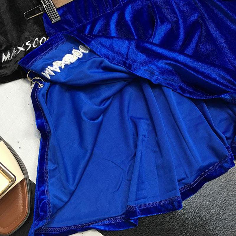 HTB1drVeSXXXXXaCXpXXq6xXFXXXJ - summer high waist velvet trendy woman mini skirt PTC 187