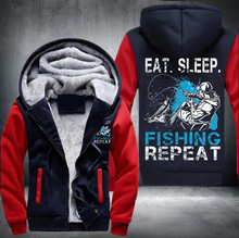 2017食べる睡眠pishingトレーナー冬男性厚いパーカーパッチワークトレーナージッパーフリーストラックスーツ米国サイズ