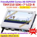 FriendlyARM S5PV210 Cortex A8 Development Board , TINY210 SDK+7inch Resistance Touch Screen,512MRAM+512M SLC Flash, Android4.0