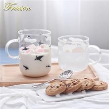 Kawaii Japanese Polar Bear Penguin Mug Cute Animal Heat Resistant Glass Coffee Cup Tea Zakka Novelty Girl Friend Lover Gift