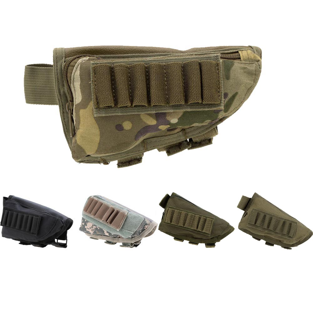 Outdoor Tactical Military Pouch Shotgun Stock Ammo Pouch Hunting
