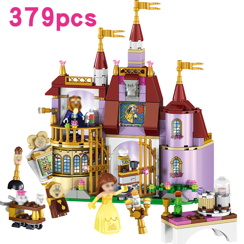 Princess Belle's Enchanted Castle Beauty and the Beast  Building Blocks Compatable Lego Girl Friends Kids Toys action gift 37001 aladdin and the enchanted lamp stage 1 cd rom