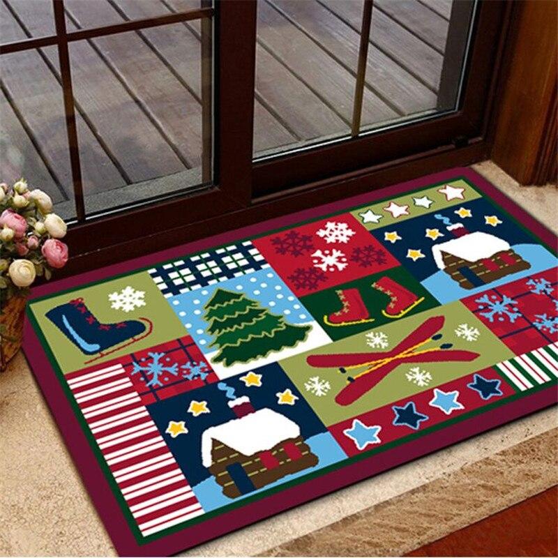 2017 christmas carpet 61 100cm doormat carpet christmas for 100 floor level 61