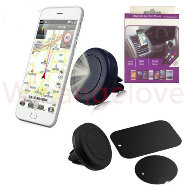 Magnetic Car Air Vent Mount Holder 360 Rotation Universal Cell Phone Holders for iPhone and Android