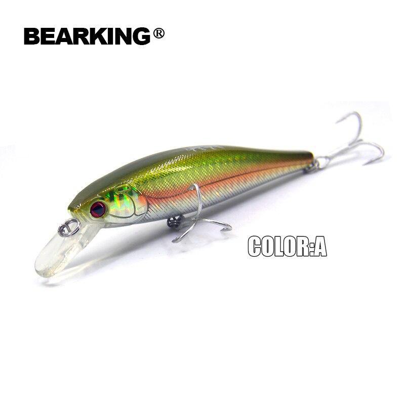 Bearking hot fishing tackle 5pcs/lot 2017 good fishing lures minnow,quality professional minnow. 11cm/17g,depth1.5m
