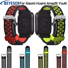 Silicone Sport Watch strap for xiaomi huami amazfit bip Band Samsung Gear sport S2 Galaxy 42mm band Watchband