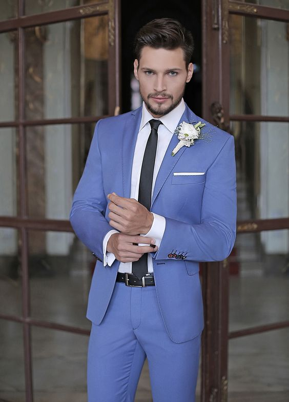 High Quality Light Blue Tuxedos for Weddings Promotion-Shop for ...