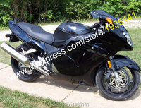 Hot Sales,For Honda CBR1100XX 96 07 CBR 1100 XX 1996 2007 All Gloss Black Aftermarket Motorcycle Fairing (Injection molding)