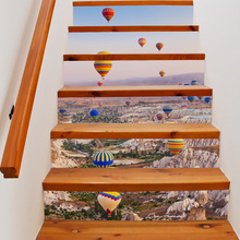 6pcs 18*100cm Diy Steps Sticker Removable Stair Stickers Home Decor Wall Tiles Landscape WallPoster Creative Home Decoration