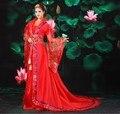 2017 dress dinastía tang de la mujer traje de novia hanfu ropa nacional traje de la danza