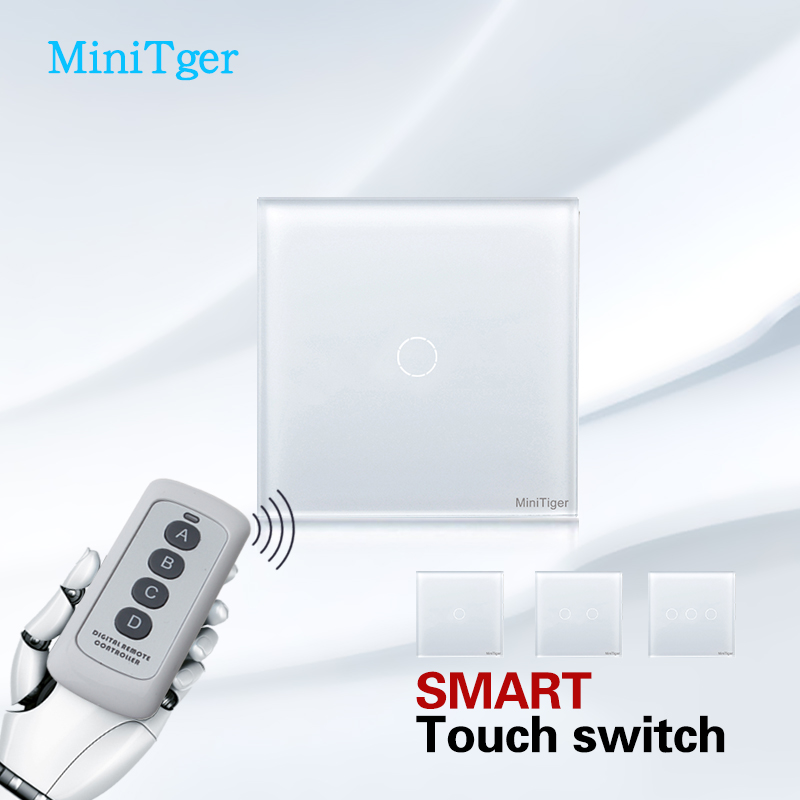 Free Shipping,MiniTiger EU Touch Screen Wall Light Switch,White Crystal Glass ,Wall Switch, Touch Switch free shipping aaa 5301 white opal color 3mm 4mm 5mm 6mm 8mm crystal glass bicone beads