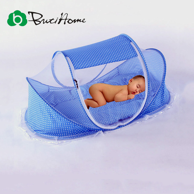 Butihome Summer Baby Mosquito Nets With A Small Pillow Foldable Mongolian tent Convenience Soft Portable Baby Bed without mat