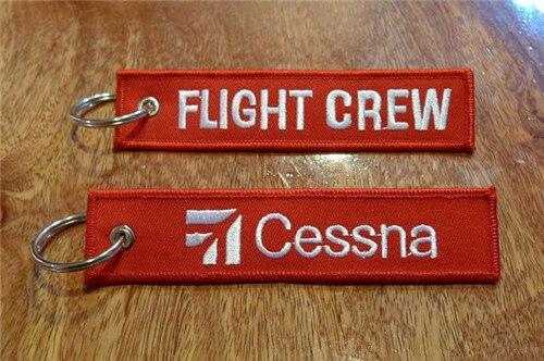 Cessna авиационный брелок для летной команды Cessna - Название цвета: RBF Red