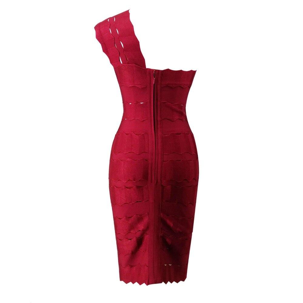 Dress Vestiti Sexy Del Spalla Modo Estate Una Aderenti Party Backless Vestito Fasciatura Rosso 2017 Abiti Celebrità Di nOmN0vw8