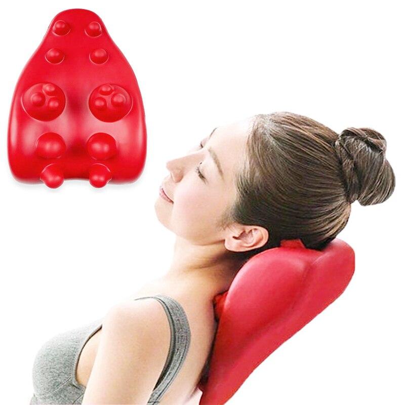 1 pc Cou Masseur Oreiller soulagement de la douleur Soins de La Santé du Dos Cou Épaule Soulager Dual Trigger Point Auto-Massage Outil formation U4