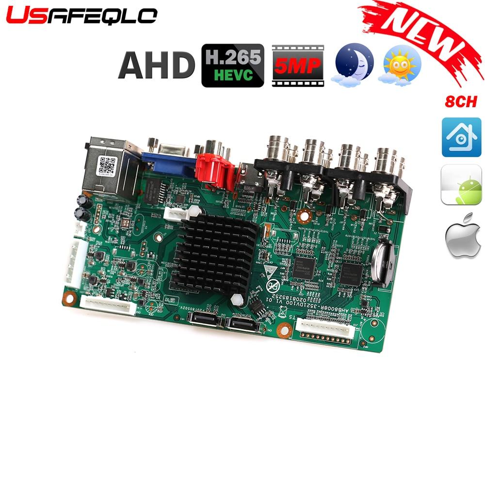 最新 AHD H.265/H. DVR デジタル Vidoe 録画のサポート 2 SATA ライン AHD/IP カメラサポート ONVIF CMS XMEYE CCTV AHD 5MP カメラ  グループ上の セキュリティ & プロテクション からの 監視ビデオレコーダー の中 1