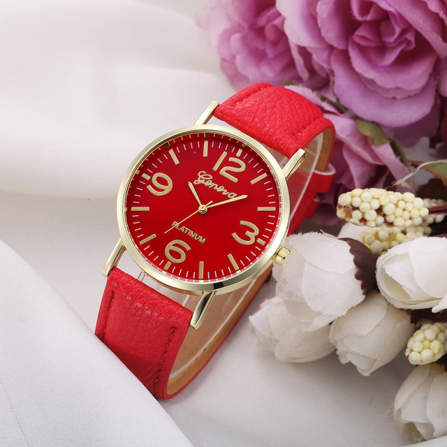 11 Colors New Watches for Women Casual Checkers Faux Leather Quartz Analog Wrist