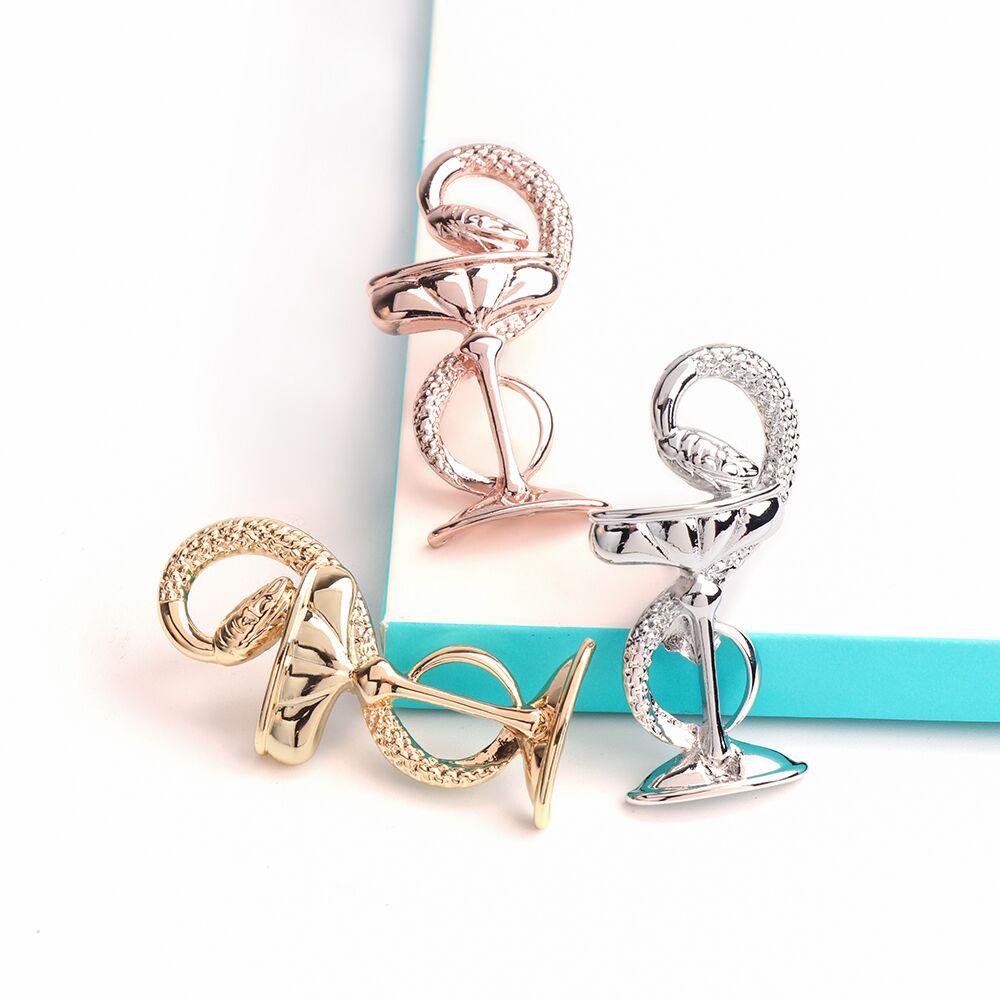 DCARZZ – broches en métal pour femmes, bol de l'hygiène, mignon, Badge médical, cadeau médical, infirmière, or Rose, broches en métal, bijoux classiques