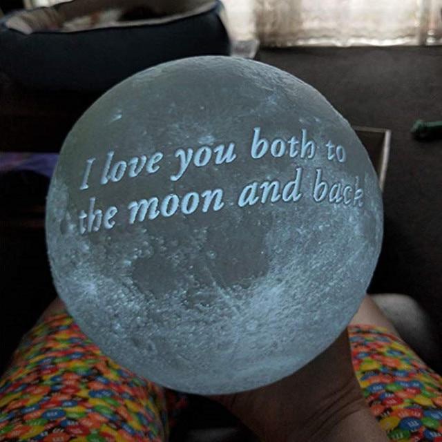 Customized Moon Light  USB Night Lamp 16 Colors + Remote 3
