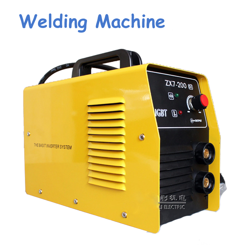 220V New Welder Copper Core Portable Household Inverter DC Manual Arc Welding Machine Single-phase ZX7-200DI welder machine plasma cutter welder mask for welder machine