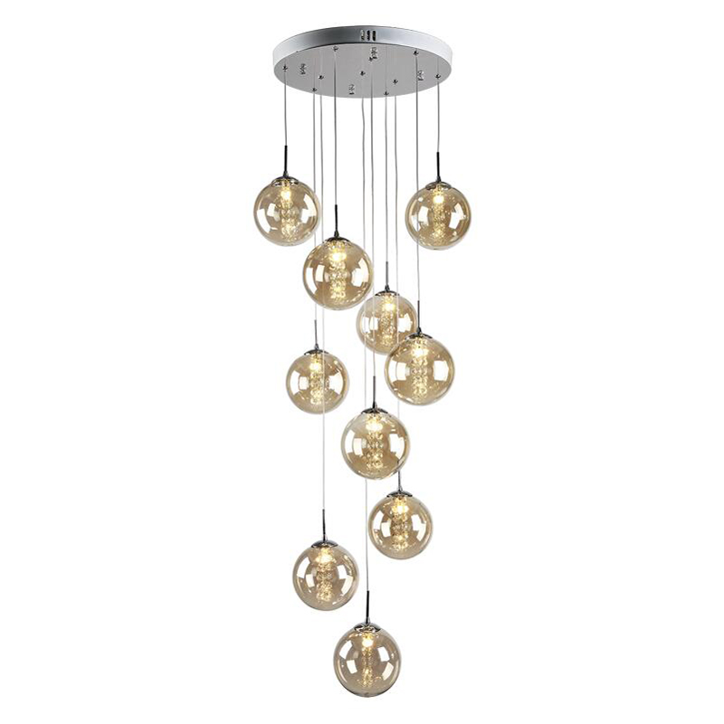 Creative personality LED glass dining room pendant light simple living room lamp staircase hanging lamps glass ball pendant lampCreative personality LED glass dining room pendant light simple living room lamp staircase hanging lamps glass ball pendant lamp
