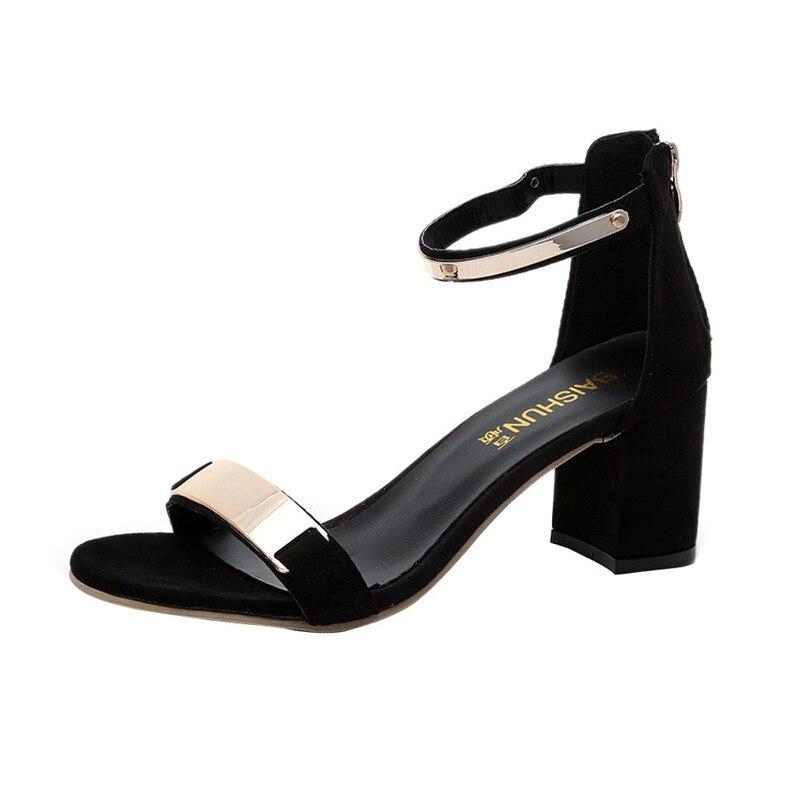 SAGACE 2018 Summer Sandals Open Toe Women Sandles Thick Heel Shoes Gladiator Shoes Sandalia Feminina Buty Damskie Sandalias