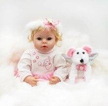 цена 55cm girl reborn babies silicone reborn baby dolls born bebe real reborn  Lovely princess doll for girls toys онлайн в 2017 году