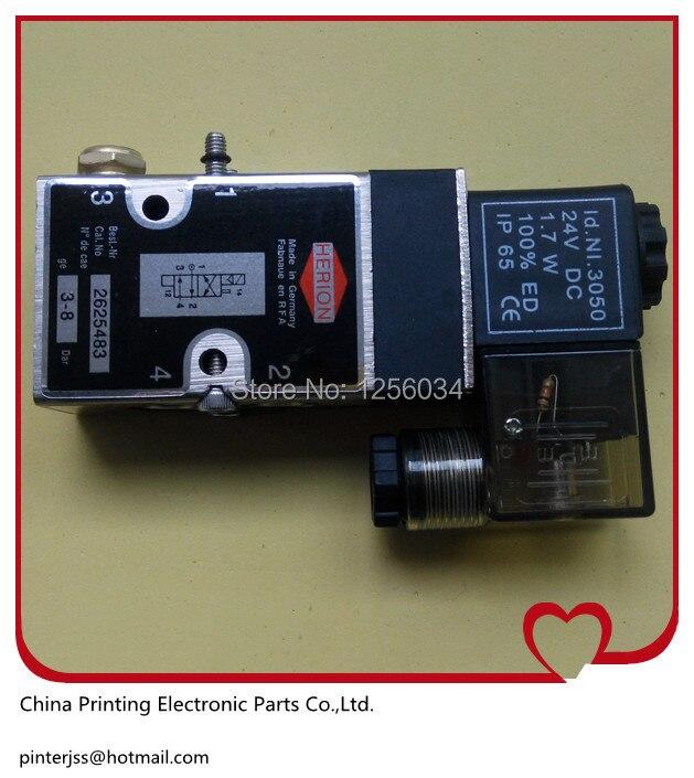5 pieces 98.184.1051/01 Heidelberg valve, 61.184.1051, 98.184.1051, printing machine polar valve 2625483